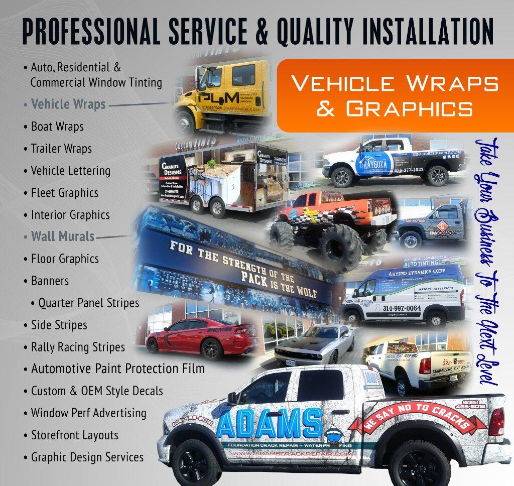 Vehicle Wraps Custom Tints Serving Wentzville Mo