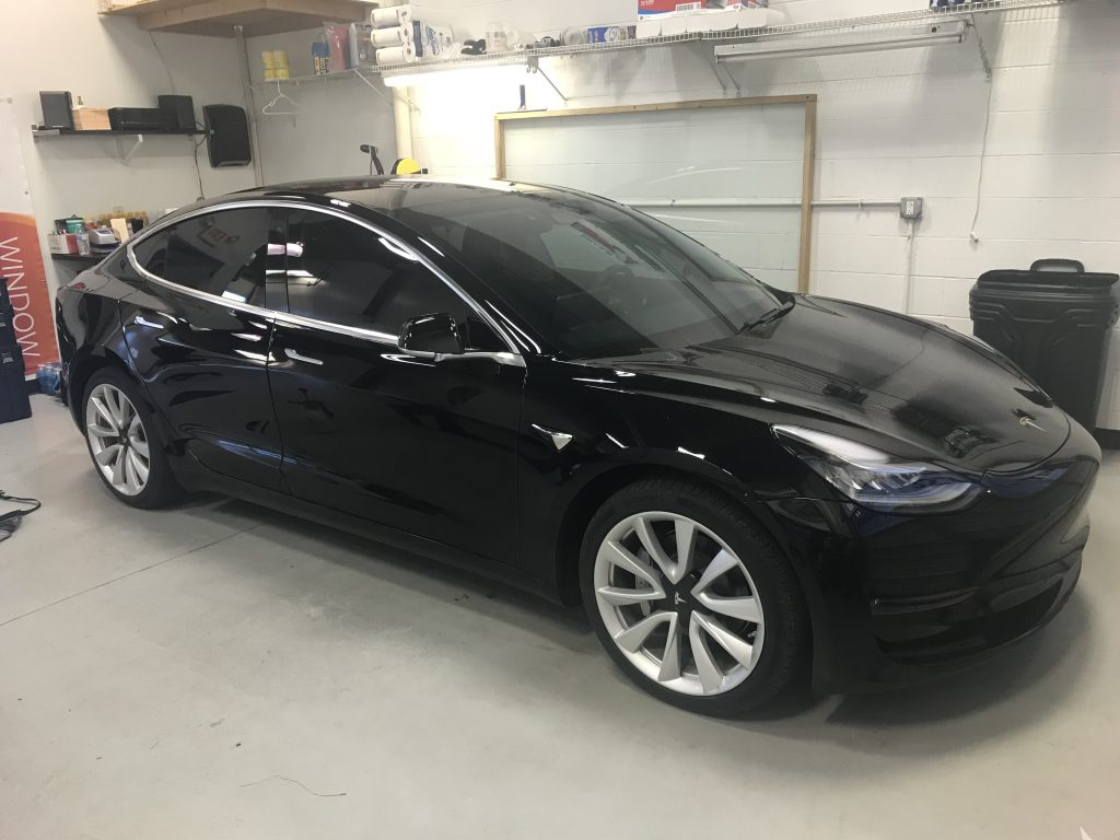 2018 Tesla Model 3 Tinted With Llumar Formulaone Pinnacle