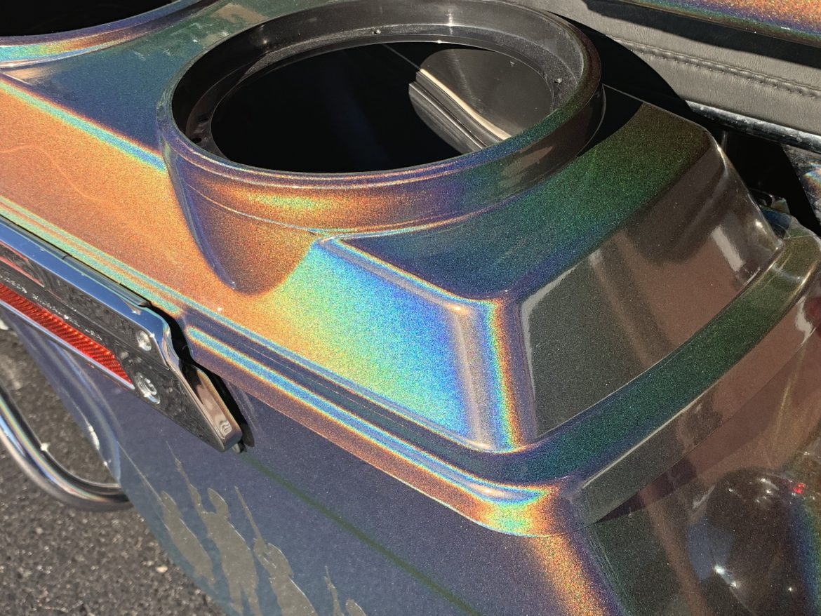 Motorcycle Wrap Harley Road Glide 3M Gloss Flip Psychedelic